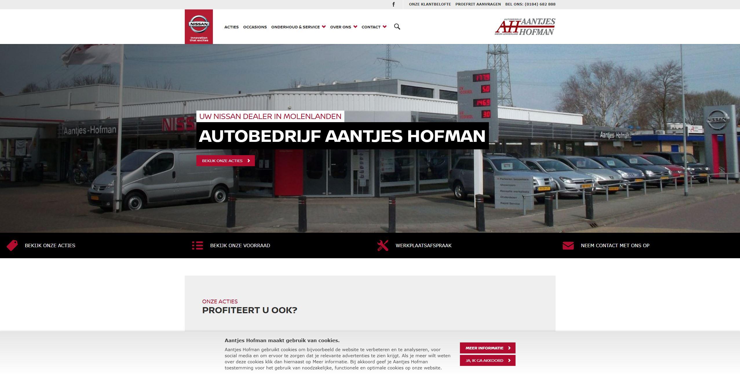 Sponsor Team Tundra 2018 | Autodealer Aantjes Hofman | Nissan