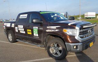 Auto bij de finish | Stichting Team Tundra | Nieuw Lekkerland