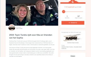 Doneren 2019 | Team Tundra | Website Geef.nl