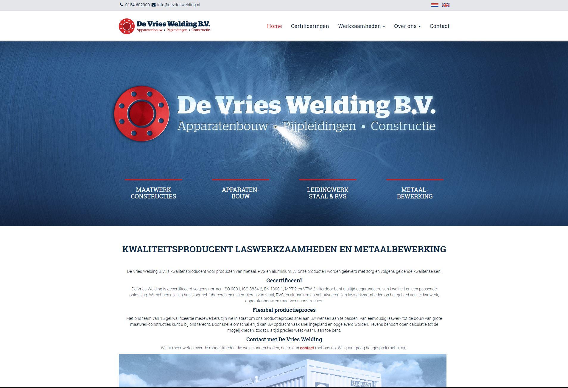Sponsor De Vries Welding | Team Tundra | 2018