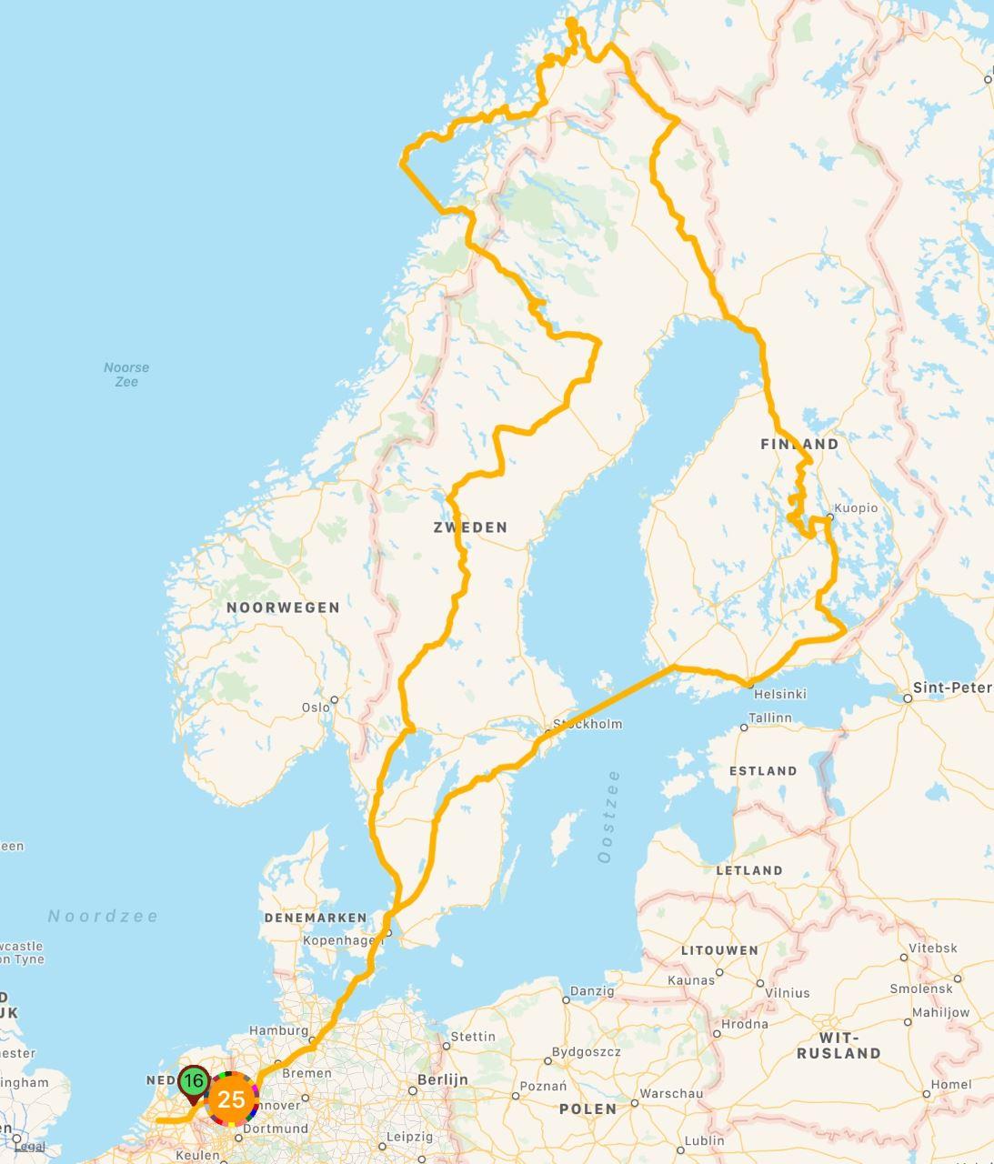 Route Team Tundra   Navigate North 2020